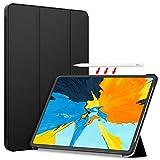 iPad Pro 11 ケース TopACE 【apple pencilの充電とペアリングへの影響を与えません】 超薄型 スマートケース スタンド機能付き 高級PU レザーケース iPad Pro 11 2018 対応 (ブラック)
