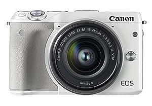 Canon ミラーレス一眼カメラ EOS M3 レンズキット(ホワイト) EF-M15-45mm F3.5-6.3 IS STM 付属 EOSM3WH-1545ISSTMLK