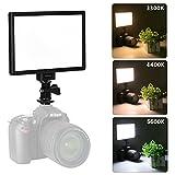 VILTROX L116T LED ビデオライト 超薄型LEDパネル 輝度と色温度調整可能 3300K-5600K CRI95+ 小物撮影 結婚式写真撮影 一眼レフカメラ対応