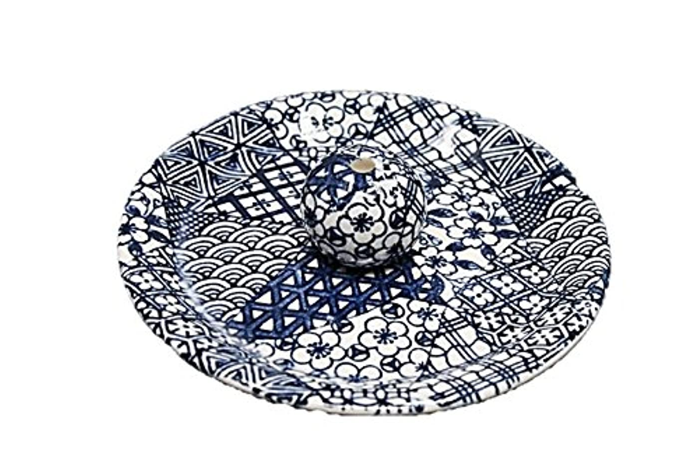 魔法取り付け地中海9-9 五条 9cm香皿 お香たて 陶器 お香立 製造?直売品
