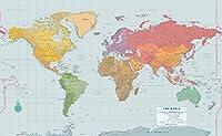 Peel & Stick World Wall Map