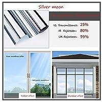 OUPAI 窓フィルム 窓用フィルム、一方向ミラー反射防止アンチuv自己接着ソーラーフィルム装飾静的くがみ熱制御プライバシーウィンドウ色合い用ホームとオフィス ガラスフィルム (Color : A, Size : 47inch × 39inch)