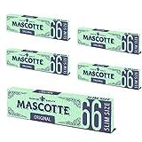 MASCOTTE(マスコット) エクストラスリム オリジナル フリーバーニング 手巻きタバコ用ペーパー 66枚入×5冊パック 7-65002-45