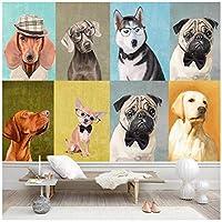 山笑の美 絵画子犬ペットショップ背景壁プロ壁画壁紙壁画写真壁-120X100CM