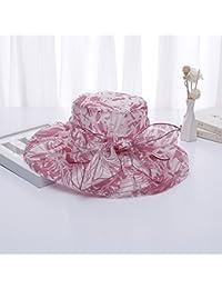 レディース つば広ハット UVカット帽子 春夏 紫外線 日焼け対策 小顔効果 女優帽 上品なヨーロッパデザインな花帽子、軽く 涼しく 紫外線対策 賞桜 旅行 海に