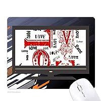 バレンタインデー・レッド・ブラックが好きです ノンスリップラバーマウスパッドはコンピュータゲームのオフィス
