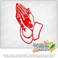 祈りの手 Praying hands Prayer 15cm x 10cm 15色 - ネオン+クロム! ステッカービニールオートバイ