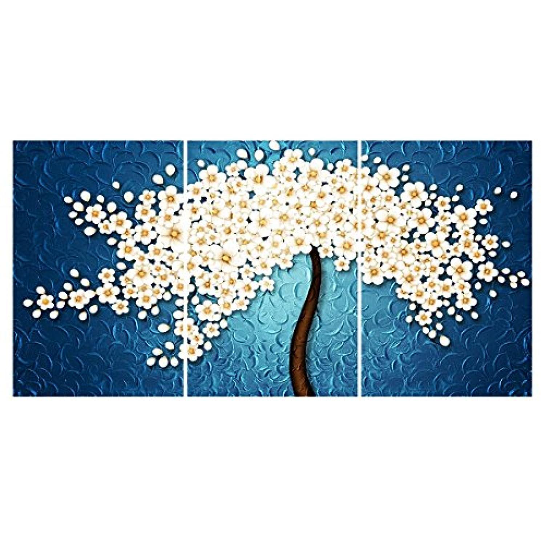 【開運 植物】壁飾り 絵画 花 アートパネル 桜の木 ファブリックパネル 絵画 桜花 モダン絵画 インテリア 絵画 壁キャンバス絵画 壁アート 木枠セット 40*60*3枚パネルセット