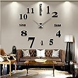 SUND 大きいサイズ壁掛け時計 ローマ数字と英語併用する サイレント DIYできるイン……