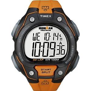 タイメックス]TIMEX アイアンマン 50ラップ フルサイズ ブラック/オレンジ T5K493 メンズ T5K493 メンズ