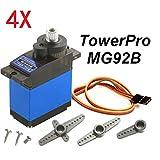 Hitsan 4?x TowerPro mg92bロボット13.8?G 3.5?KGトルクメタルギアデジタルサーボOne Piece
