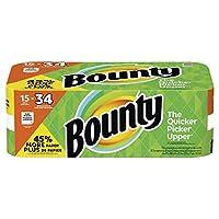 Bounty ペーパータオル ホワイト (15個の巨大ロール)