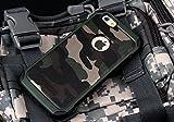 iPhone6/iPhone6S用 迷彩 二重構造 TPU360度保護 耐衝撃保護ケース(3色) (緑色)