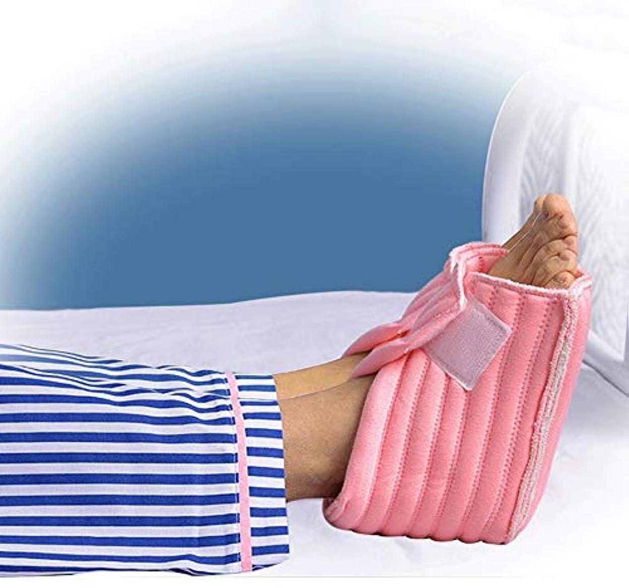 丁寧脅かすバットかかとプロテクター枕、Pressure瘡の予防のための足枕かかとクッションプロテクター、高齢者の足補正カバー-ワンサイズフィットすべて-1ペア