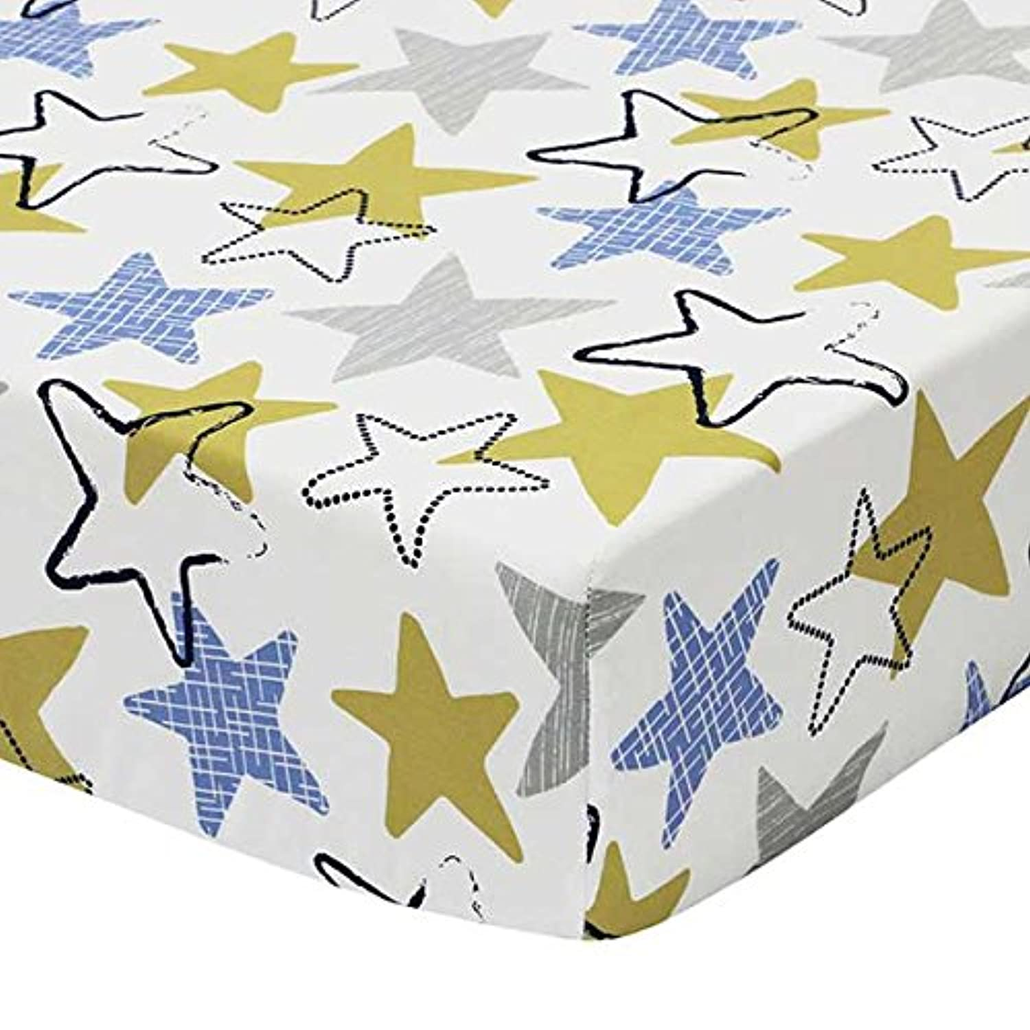 Stargazer Fitted Crib Sheet by The Peanut Shell by The Peanut Shell