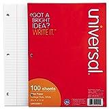 Mediumweight 16-lb. Filler Paper, 11 x 8-1/2, College Ruled, White, 100 Shts/Pk (並行輸入品)