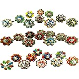 JGARTS Small 1 20 Knobs Assorted Rare Hand Painted Ceramic Knobs Cabinet Drawer Pull Pulls