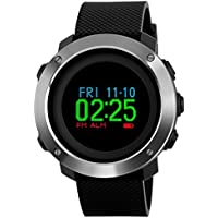Compass Watch Army, Digital Outdoor Sports Watch for Men Women, Pedometer Color Screen Stopwatch Countdown Waterproof with Big Number