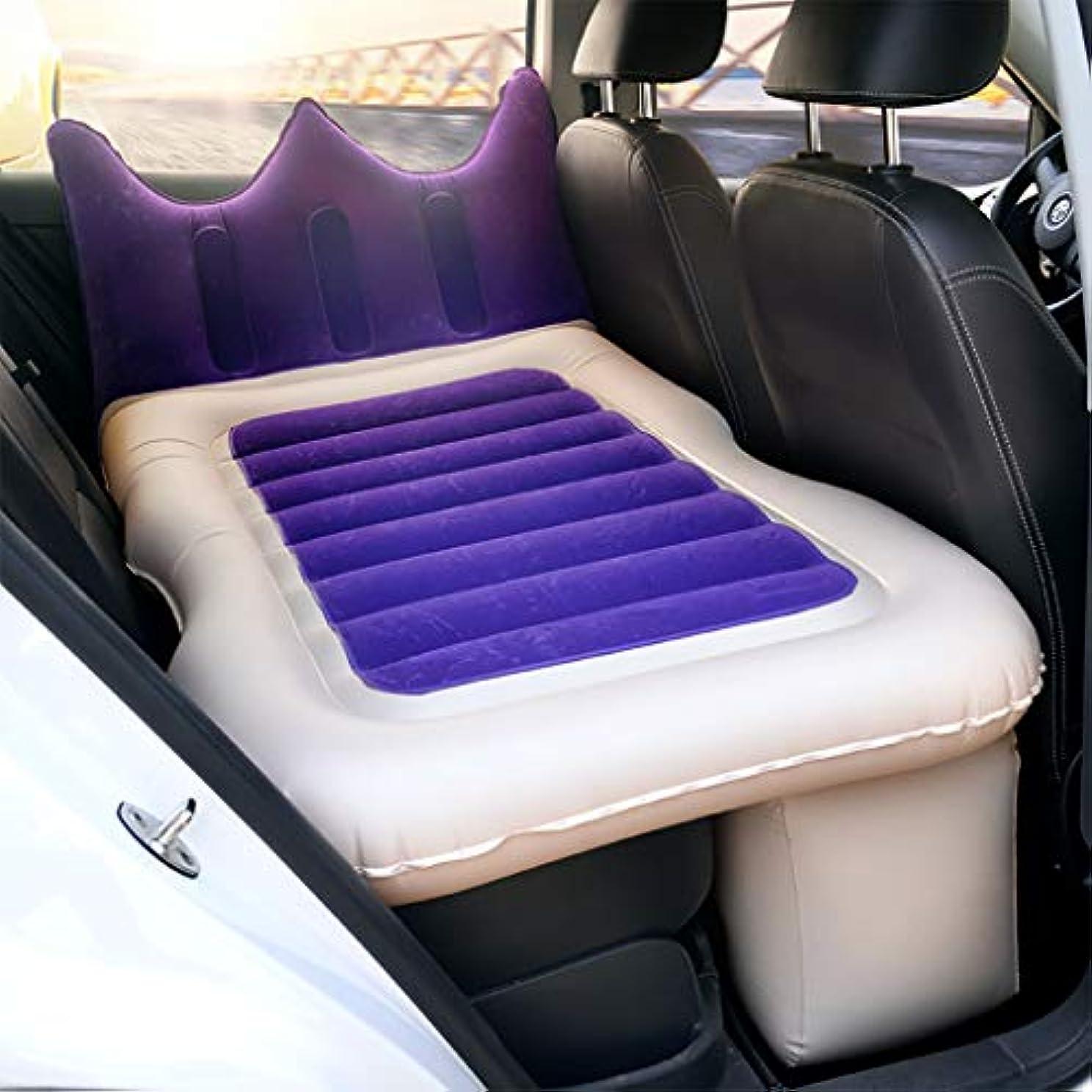 思慮のない合法マザーランド膨脹可能な車のエアマットレス-背部サポートが付いている携帯用旅行キャンプの睡眠のベッドのクッションは普遍的な車SUVのトラックに合います