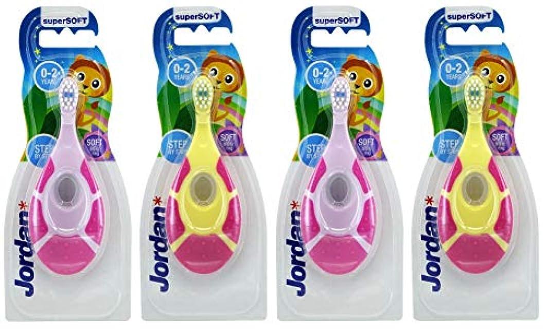 サリー狂ったヘルシーevaluecanベビー幼児用歯ブラシ、4パック、BPAフリー&ソフト剛毛、0~2歳 – 女の子最初セット(2ピンク/グリーン& 2パープル/ピンク)