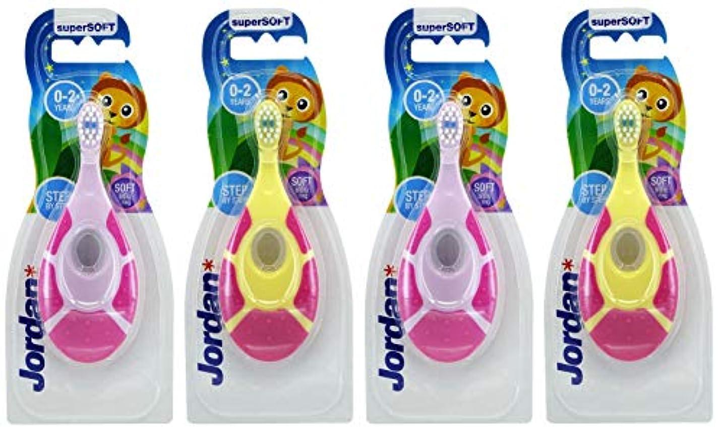 ホイストあいにくジョリーevaluecanベビー幼児用歯ブラシ、4パック、BPAフリー&ソフト剛毛、0~2歳 – 女の子最初セット(2ピンク/グリーン& 2パープル/ピンク)