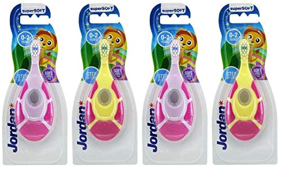 ハードリングセーター強調evaluecanベビー幼児用歯ブラシ、4パック、BPAフリー&ソフト剛毛、0~2歳 – 女の子最初セット(2ピンク/グリーン& 2パープル/ピンク)