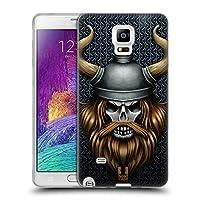 Head Case Designs バイキング スカル・ウォリアーズ ソフトジェルケース Samsung Galaxy Note 4