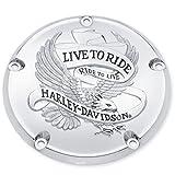 ハーレー純正 ダービーカバー Live to Ride 99年以降 Twin Cam 25372-02A