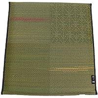 い草座布団 「ほづみ 5枚組」 サイズ:55×59cm グリーン(#3151550) 日本製 織込千鳥 い草 座布団 和座布団