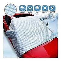 フロントガラスカバー 車用凍結防止カバー 反射警告バー サイドミラーカバー付き すべての天気 霜防止 防風 防塵 ほとんどの車両に適しています、suv Shijinhao (Color : Silver, Size : L)