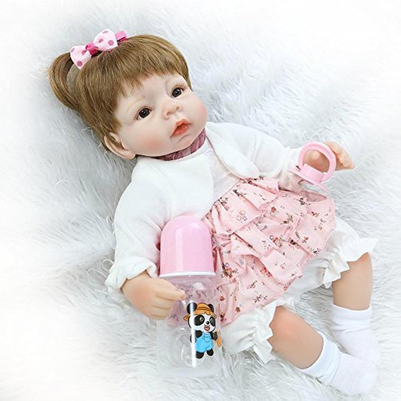 ソフトシリコン赤ちゃん女の子Rebornベビー人形42 cm Real Look Lifelike赤ちゃんおもちゃEyes Open with Hair