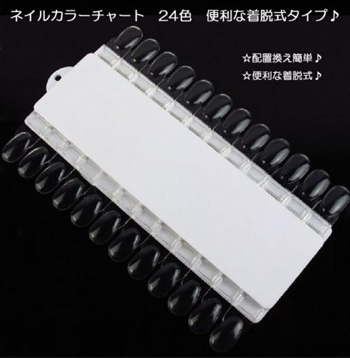 冒険聖歌混合した【新入荷!】ネイルカラーチャート 24色 便利な着脱式タイプ?