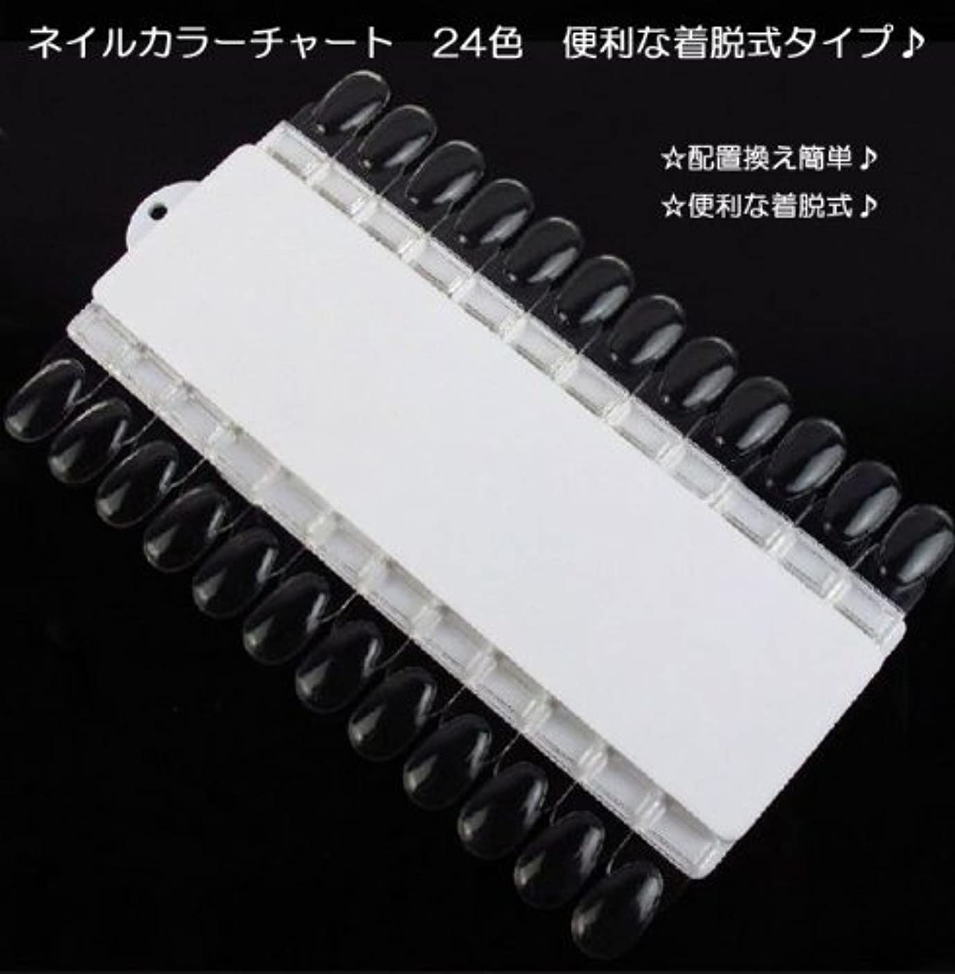 ピルレパートリーミリメートル【新入荷!】ネイルカラーチャート 24色 便利な着脱式タイプ?