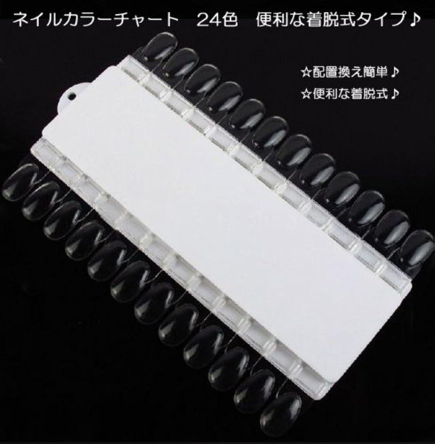 スキップ馬鹿かまど【新入荷!】ネイルカラーチャート 24色 便利な着脱式タイプ?