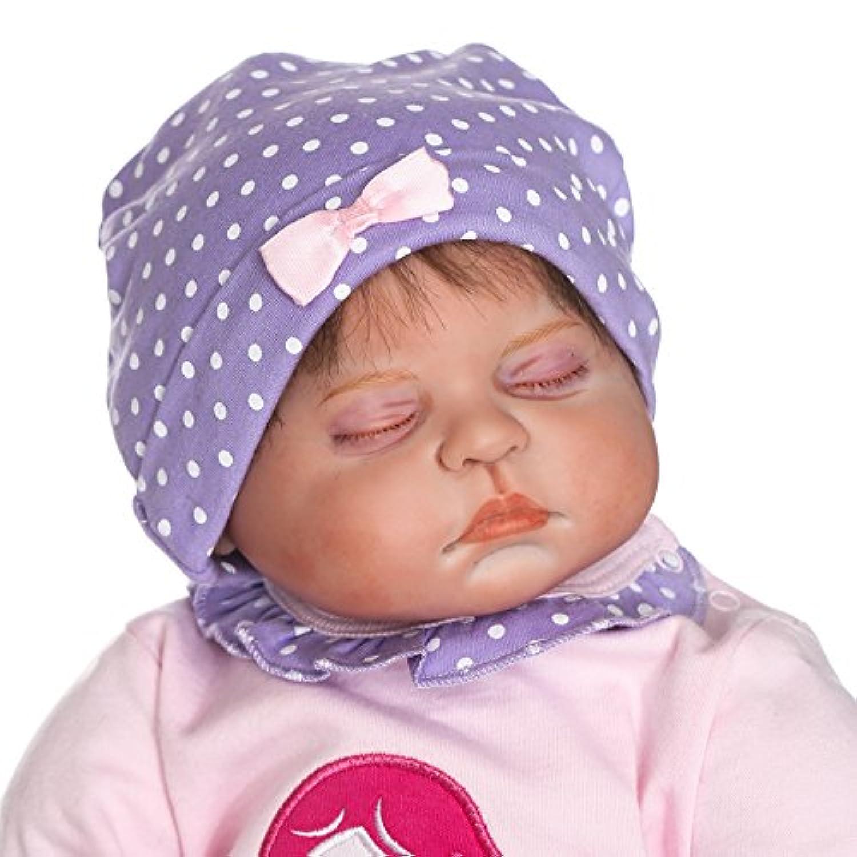 SanyDoll Rebornベビー人形ソフトSilicone 22インチ55 cm磁気Lovely Lifelike Cute Lovely Baby b0763kvjc1