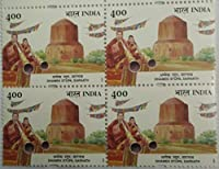 Dhamek Stupa Sarnath Indian Stamp (Block of 4 With Traffic light)