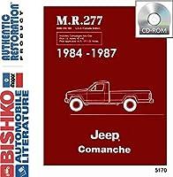 1984198519841987Jeep Comanche Shopサービス修復手動CDエンジン
