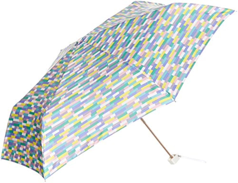 [ムーンバット]estaa×mt(マスキングテープ) UV加工 ブロック 折りたたみ傘 ウィメンズ