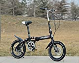 KORTELA 折りたたみ自転車 16インチ 6段変速/インストール用ツール 標準装備 (ブラック)街乗り 通勤 通学等に便利