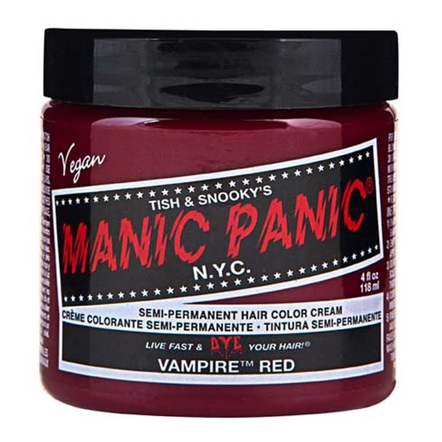 ジュラシックパーク地震教育学スペシャルセットMANIC PANICマニックパニック:Vampire Red (ヴァンパイア?レッド)+ヘアカラーケア4点セット