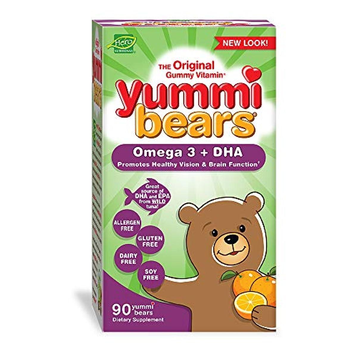 コンパニオン予知スタジオ海外直送品 Yummi Bears (Hero Nutritional Products) Yummi Bears DHA, 90 CT