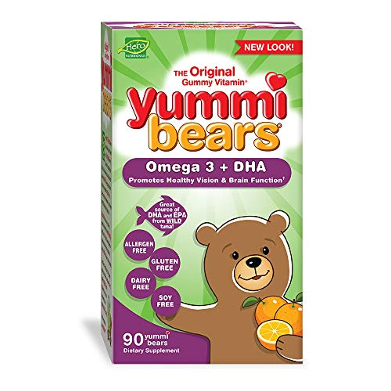 数学的な適合する苛性海外直送品 Yummi Bears (Hero Nutritional Products) Yummi Bears DHA, 90 CT
