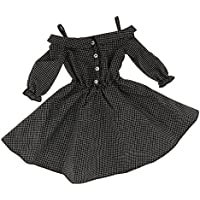SONONIA 黒色 チェック柄  ショルダーストラップ ドレス 1/3 スケール BJD SDドール用 装飾