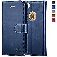 iPhoneSE ケース / iPhone5s ケース / iPhone5 ケース 手帳型ケース OCASE 財布型 スタンド機能 マグネット式 カード収納 ポケットホルダー付き 人気 おしゃれ ネイビー
