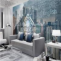 Wuyyii 壁用のモダンシティの壁紙3Dの壁の壁画写真、リビングルームのベッドルーム、テレビの背景、壁、紙、家の装飾-150X120Cm
