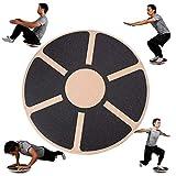 ニューバランス ヨガ ヨガニューバランスボードボールフィットネストレーニングバランスプレート木製自己バランス揺動プラットフォーム