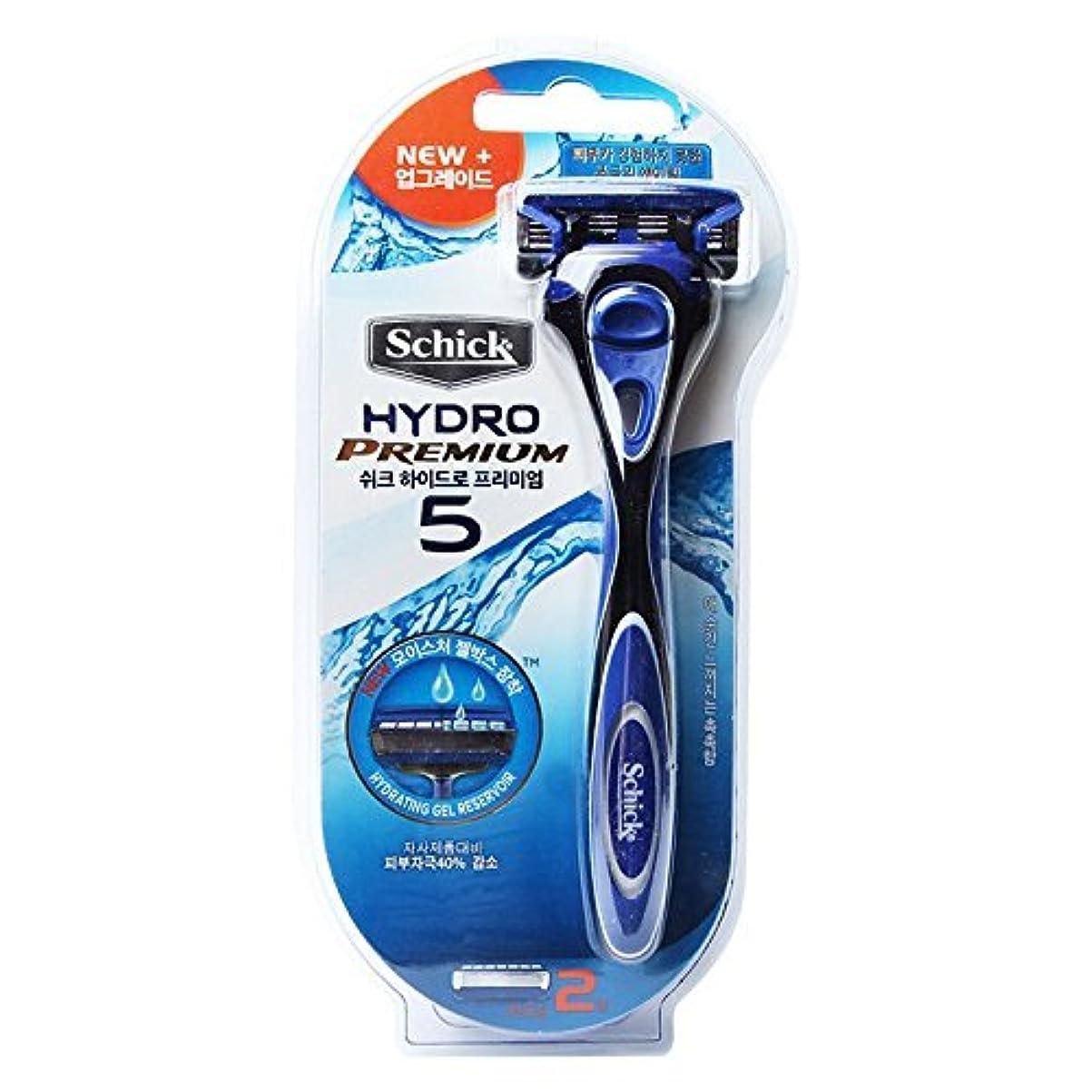 拒否休憩立派なSchick Hydro 5 Premium トリマーで男性と2カミソリ詰め替え用カミソリ [並行輸入品]