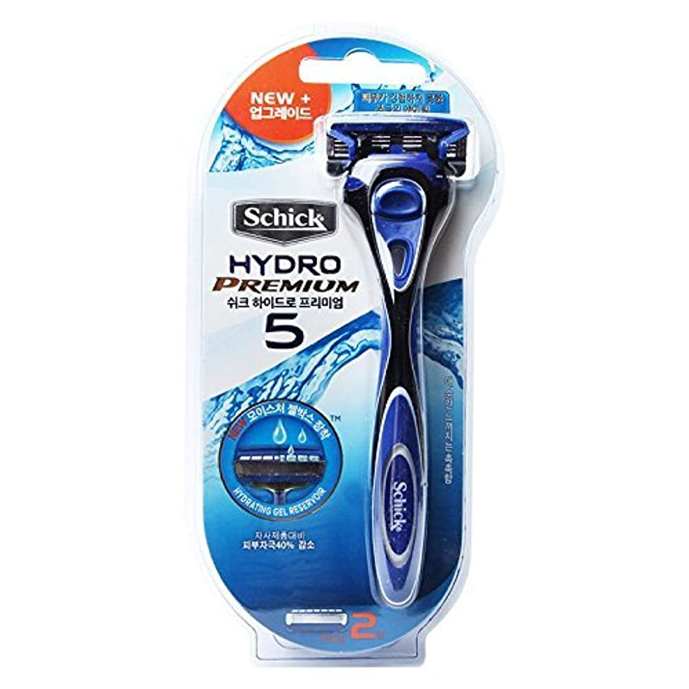 警察署見積り便宜Schick Hydro 5 Premium トリマーで男性と2カミソリ詰め替え用カミソリ [並行輸入品]