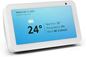 Introducing Echo Show 5 – Compact smart display with Alexa - Sandstone Fabric