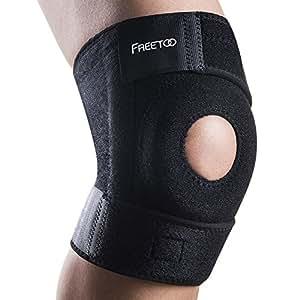 FREETOO 膝サポーター 膝固定 関節靭帯保護 フリーサイズ 怪我防止 ニーガード 登山 ランニング バスケ アウトドアスポーツ